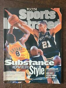May 31, 1999 Tim Duncan Spurs & Kobe Bryant Lakers Sports Illustrated