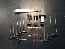 Lot of 23 Used Assorted Chrome Slatwall Hangers Hooks Holder Brackets Hardware