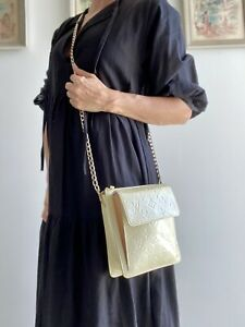 $850 Authentic LOUIS VUITTON crossbody VERNIS MOTT bag PURSE LV monogram