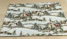 Christmas Holiday Church Houses Snow Sheep Lambs Xmas Trees Set of 4 Placemats