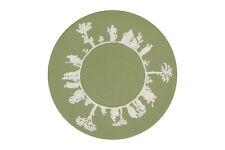 A Wedgwood Jasperware plate Green & white classical design
