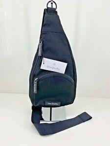Vera Bradley Lighten Up Essential Compact Mini Sling Crossbody Bag Black $59 NWT