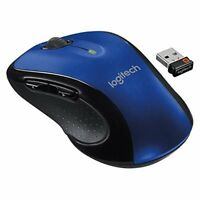 Logitech M510 Wireless Large Mouse Blue With Unifying Receiver Very Good