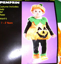 Pumpkin Vest Plump Costume Tunic Hat 1-2 NWT