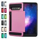 Hybrid PC Card Holder Shockproof Case Cover For Samsung Note 20 Plus/S20/S10e/S9