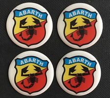 FIAT 500 595 ABARTH ALLOY WHEEL CENTRE CAP STICKERS DOMED X4 60MM ALL SIZES 6CM
