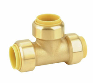 Bundle of Two Fittings VXA8314-2 Union//Joint Tee//3-way Pneumatic Fitting for 1//4 OD Hoses PTC Vixen Air Push to Connect