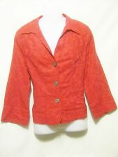 JONES WEAR Women's Blazer/Jacket,Size 14,Fuchsia,3 Button Front,Linen/Cotton