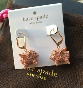 Kate Spade New York Rose Gold imagination pave pig Earrings