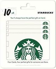 $40 Starbucks Gift Cards (4X$10) - ship to USA addresses ONLY (Mail delivery)
