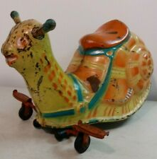 1949 Adorable Mobo Horse Ride-on Snail Pressed Steel Inch Worm Action Pedal Car