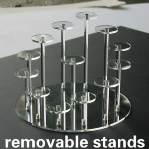 Acrylic Removable Stand Model Toy Display Transparent Perspex Stands Shelf Home