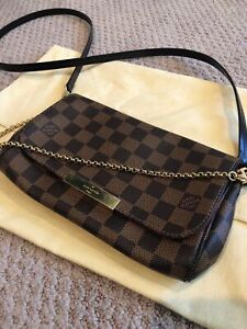 100% Authentic Louis Vuitton Favorite PM Handbag Crossbody Bag