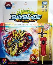 Takara Tomy Beyblade Burst B-48 Starter Xeno Xcalibur .M.I + Bey Launcher