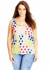 Top 18W Plus City Chic NWT $59 Polka Dot Multi Sleeveless Tank Tunic TM587