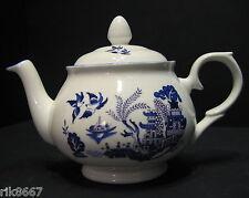 Willow Pattern 2 Cup English Fine Bone China Tea Pot By Milton China