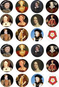 24 edible Tudor Tudors History Iced Icing Fondant 4cm Cupcake Toppers Cake