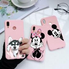 Para Huawei P30 P10 P20 Pro Honor 8X 7X 7A 9 Lite Estuche Teléfono Cubierta De Mickey Minnie