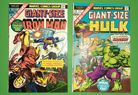 Marvel 1975 Silver Age #1 Issue Lot Hulk & Iron Man Giant Size #1's Fine+ VF-