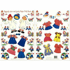 Shackman Raggedy Ann And Andy Paper Doll And Clothes #Shk-25