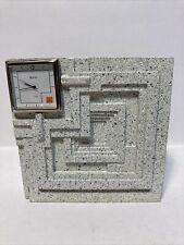 bulova frank lloyd wright Desk clock Ennis House Cast Stone Panel Square