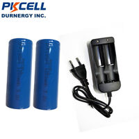 2 x 3.2v IFR18500 1200mAH LiFePO4 Vape Rechargeable Batteries + Battery Charger