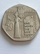 2003 SUFFRAGETTE 50p Fifty Pence Coin Rarest After Jemima Puddleduck!!!