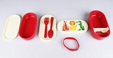 Lunchbox-Set Brotdose Bento-Box für Kinder, süße Tiere, mit Besteck + 2 Schalen