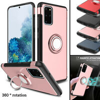 For Samsung Galaxy S20+ Ultra 5G/S10/S9 Plus Case Ring Holder Stand Hybrid Cover
