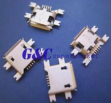 50Pcs Micro USB Type B Female 5Pin Socket 4Legs SMT SMD Soldering Connector R10