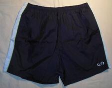 Vtg 90's Bike Athletic Swim Trunk Shorts XL Mens Black - White Fluorescent Green