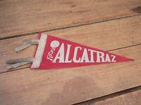 """VINTAGE RARE """"ALCATRAZ"""" San Francisco - SOUVENIR PENNANT BANNER"""