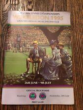 Wimbledon Tennis Programme 1995, Official Merchandise 3rd Day June 28, 1995