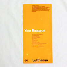 Lufthansa - Airline Advertising Flyer - Your Baggage - 1980s