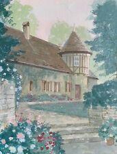 """19th Century Farmhouse"" in Europe - William Benecke - Original Watercolor"