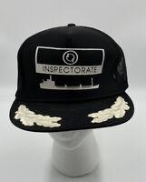 Vintage Inspectorate Cap Hat Snap Back Boat Black