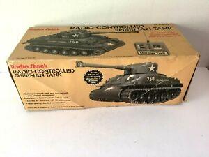 Radio Shack Remote Control Sherman Tank 60-3037 Box & Instructions ONLY