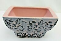McCoy Small Planter Bowl Vase Gray/Pink Speckled Vintage 1950's Mid Century