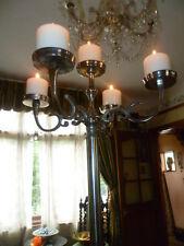 "Alto 35"" 90 cm grande DA PAVIMENTO TAVOLO pilastro candela fiore Argento Candelabri"
