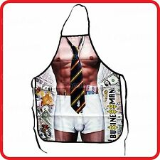 APRON-FUNNY-SEXY SHIRTLESS STRONG MUSCLE BUSINESS MAN WAITER STRIPPER GIGOLO-TIE