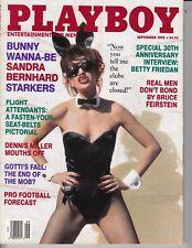 Playboy Magazine September 1992 Sandra Bernhard Morena Corwin Flight Attendants