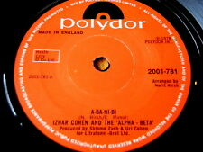 "IZHAR COHEN & THE ALPHA BETA - A-BA-NI-BI  7"" VINYL"