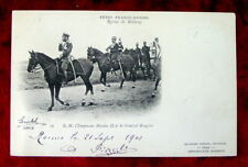 Postcard Tsar Nicholas II & General Joseph Brugere, 1901 Antique Paris, France