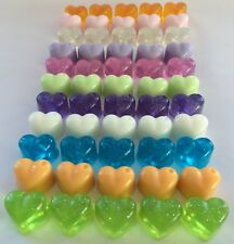 Handmade Mini Heart Soaps Wedding Favours Baby Shower Christening 2 10 20 50 100