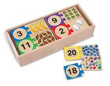 Melissa & Doug Self-Correcting Number Puzzles #2542 storage box 40 pieces New