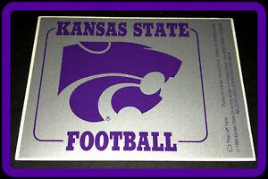 1989 KANSAS STATE WILDCATS FOOTBALL STICKER SCHEDULE FREE SHIPPING