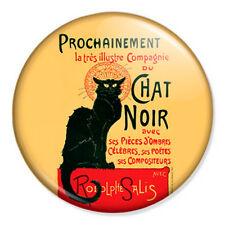 """Le Chat Noir 25mm 1"""" Pin Badge Button Paris France Vintage Retro Art"""