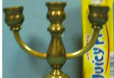 "AUTHENTIC OLD BRASS MINIATURE 3 CANDLE HOLDER 2 1/2"" HIGH * NOW ON SALE *  T172"