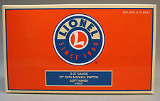 "LIONEL 027 GAUGE 27"" PATH MANUAL LEFT HAND SWITCH turnout turn 6-65021 NEW"