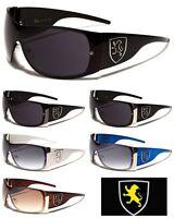 New KHAN Mens and Womens European Fashion Designer Shield Wrap Sunglasses